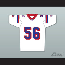 Jon Favreau Daniel Bateman 56 Washington Sentinels Away Football Jersey The Replacements Includes League Patch