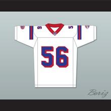 Jon Favreau Daniel Bateman 56 Washington Sentinels Away Football Jersey The Replacements Includes League Patch