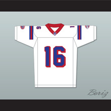 Keanu Reeves Shane Falco 16 Washington Sentinels Away Football Jersey The Replacements Includes League Patch