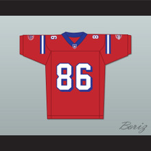 David Denman Brian Murphy 86 Washington Sentinels Home Football Jersey The Replacements Includes League Patch 2