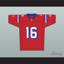 Keanu Reeves Shane Falco 16 Washington Sentinels Home Football Jersey The Replacements Includes League Patch 2