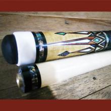 Boriz Billiards Black Leather Grip Pool Cue Stick Majestic Series