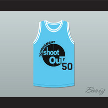 Light Blue Tournament Shoot Out Basketball Jersey Above The Rim