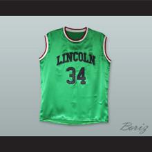 Jesus Shuttlesworth 34 Lincoln Green Silk Basketball Jersey