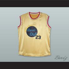 Michael Jordan 23 Tournament Shoot Out Gold Silk Basketball Jersey