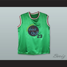 Michael Jordan 23 Tournament Shoot Out Green Silk Basketball Jersey