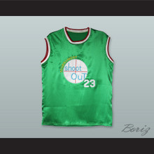 Motaw 23 Tournament Shoot Out Green Silk Basketball Jersey