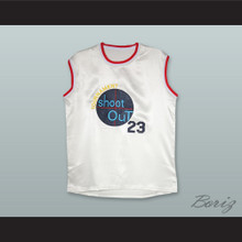 Motaw 23 Tournament Shoot Out White Silk Basketball Jersey