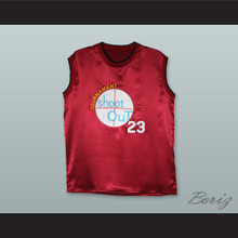 Michael Jordan 23 Tournament Shoot Out Maroon Silk Basketball Jersey