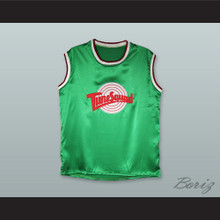 Michael Jordan 23 Tune Squad Green Silk Basketball Jersey