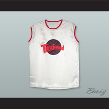 Motaw 23 Tune Squad White Silk Basketball Jersey