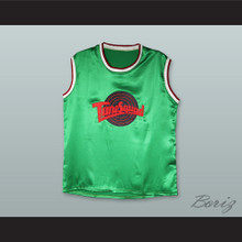 Motaw 23 Tune Squad Green Silk Basketball Jersey