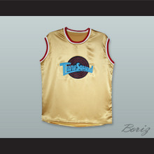 Motaw 23 Tune Squad Gold Silk Basketball Jersey