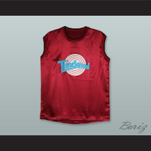 Motaw 23 Tune Squad Maroon Silk Basketball Jersey