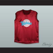 Michael Jordan 23 Tune Squad Maroon Silk Basketball Jersey