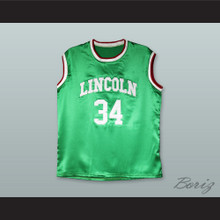 Jesus Shuttlesworth 34 Lincoln Green Silk Basketball Jersey 2