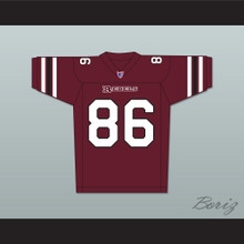 Hayes MacArthur Kyle Cooper 86 Boston Rebels Home Football Jersey Includes League Patch