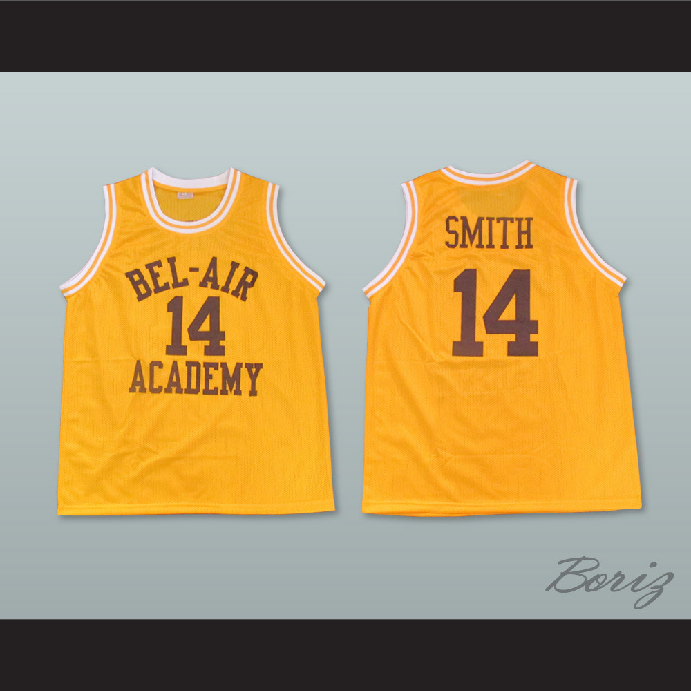 4f54814a165 The Fresh Prince of Bel-Air Will Smith Bel-Air Academy Home Basketball  Jersey. Price: $45.99. Image 1. Larger / More Photos