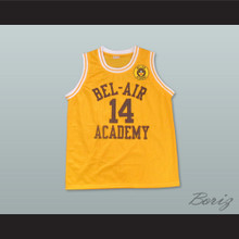 The Fresh Prince of Bel-Air Will Smith Bel-Air Academy Home Basketball Jersey Includes School Emblem Patch