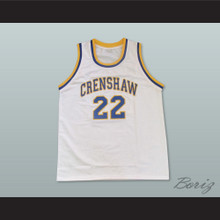Omar Epps Quincy McCall 22 Crenshaw High School White Basketball Jersey Love and Basketball