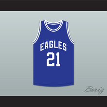 Tauheed Epps 2 Chainz 21 North Clayton High School Eagles Blue Basketball Jersey