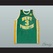 Chris Paul 3 West Forsyth High School Green Basketball Jersey 61 Tribute to Grandfather