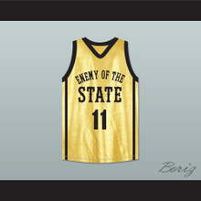 Anthony Mackie Tech 11 Enemy Of The State Basketball Jersey Crossover