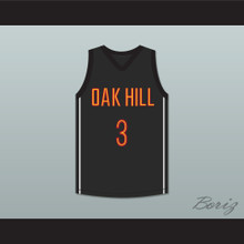 Brandon Jennings 3 Oak Hill Academy Black Basketball Jersey