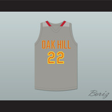 Carmelo Anthony 22 Oak Hill Academy Gray Basketball Jersey