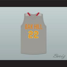 Carmelo Anthony 22 Oak Hill Academy Gray Basketball Jersey