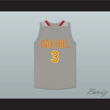 Brandon Jennings 3 Oak Hill Academy Gray Basketball Jersey