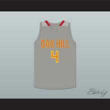 Rajon Rondo 4 Oak Hill Academy Gray Basketball Jersey