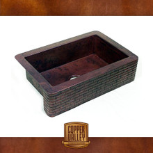 Copper Valley Farmhouse Sink 14 Gauge Brick Apron Design Kitchen Sink