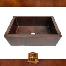 Copper Valley Farmhouse Sink 14 Gauge Smooth Finish Kitchen Sink