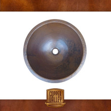 Copper Valley Farmhouse Sink 16 Gauge Handmade Round Lavatory Bath Sink