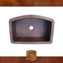 Copper Valley Farmhouse Sink 16 Gauge Curved Self Rimming Kitchen Sink