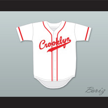 Crooklyn Red On White Baseball Jersey Any Name or Number