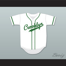 Crooklyn Green On White Baseball Jersey Any Name or Number