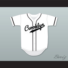 Crooklyn Black On White Baseball Jersey Any Name or Number