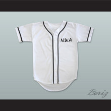 N.W.A. Ice Cube 91 White Baseball Jersey