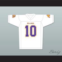 Marshawn 'Beast Mode' Lynch 10 Oakland Technical High School White Football Jersey Includes Bulldog Patch