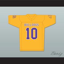 Marshawn Lynch 10 Oakland Technical High School Gold Football Jersey Includes Bulldog Patch