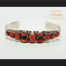 P Middleton Spiny Oyster Sterling Silver .925 Cuff Bracelet