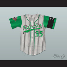 Jefferson Albert Tibbs 35 Kekambas Baseball Jersey Hardball Includes ARCHA Patch and G-Baby Memorial Sleeve