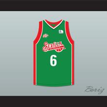 Kristaps Porzingis 6  Baloncesto Sevilla Green Basketball Jersey