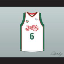 Kristaps Porzingis 6  Baloncesto Sevilla White Basketball Jersey