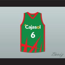Kristaps Porzingis 6 Cajasol Sevilla Green Basketball Jersey