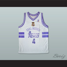 Dejan Bodiroga 4 Real Madrid Basketball Jersey