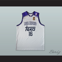 Hector Garcia 16 Real Madrid Basketball Jersey