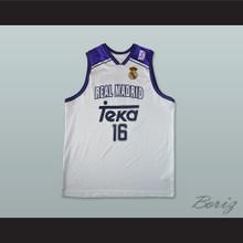 Hector Garcia 16 Real Madrid Basketball Jersey